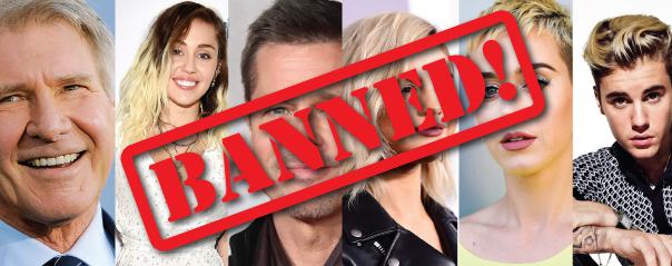 Celebs Banned